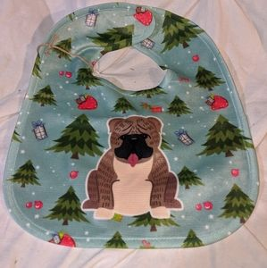 Children's bib holiday doggie